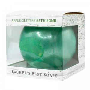 Apple Glitter Bath Bomb