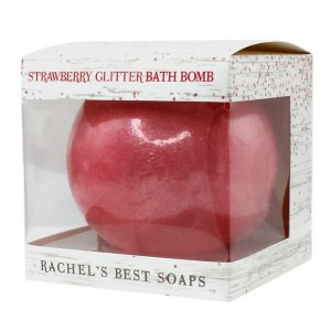 Strawberry Glitter Bath Bomb